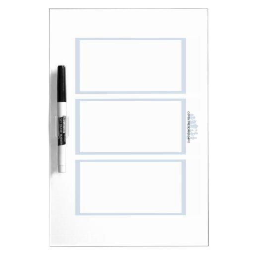 Comix the Board Game- 3 Panel Medium Whiteboard Dry Erase Board