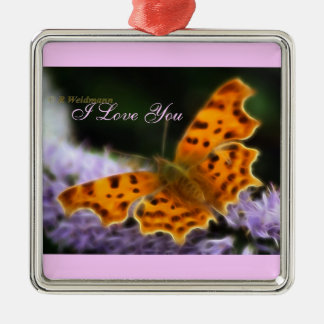 Comma Butterfly  (Polygonia c-album) Christmas Ornament