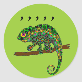 Comma Chameleon stickers