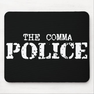Comma Police Mousepad