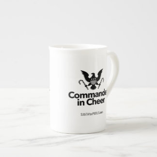 """Commander in Cheer"" bone china mug"