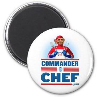 Commander in Chef 6 Cm Round Magnet