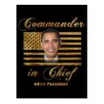 Commander in Chief, Barack Obama Postcard