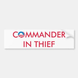 Commander in Thief Bumper Sticker
