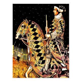 """Commander On Horseback"" Postcard"
