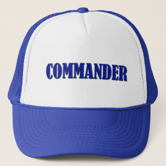 Commander - Thin Blue Line Trucker Hat