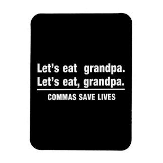 Commas Save Grandpas Rectangular Photo Magnet