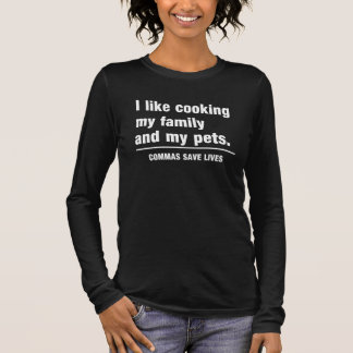 Commas Save Lives Long Sleeve T-Shirt