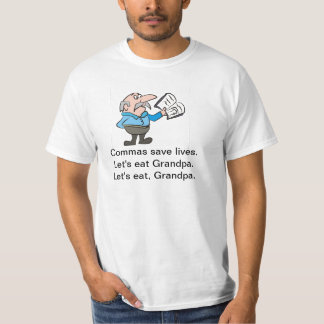 Commas save lives tee for men