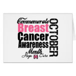 Commemorate Breast Cancer Awareness Month Greeting Cards