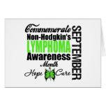 Commemorate Non Hodgkins Lymphoma  Awareness Month Greeting Card