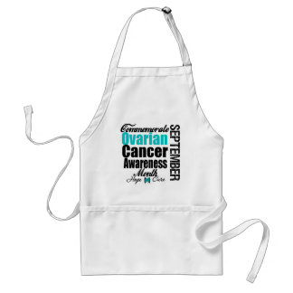 Commemorate Ovarian Cancer Awareness Month Standard Apron
