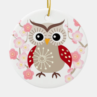 Commemorate with Red Wing Owl Ornament