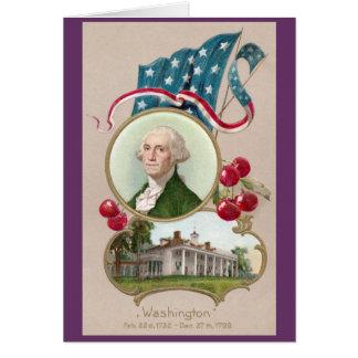 Commemorating George Washington Card