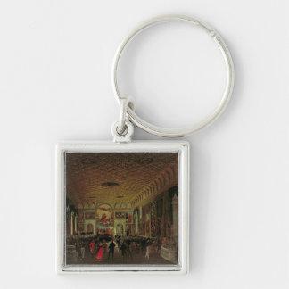 Commemoration of Antonio Canova (1757-1822) in the Silver-Colored Square Key Ring