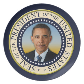 Commemorative 45th President Barack Obama Plate