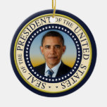 Commemorative 45th President Barack Obama Round Ceramic Decoration