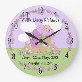 commemorative baby Round (Large) Wall Clock