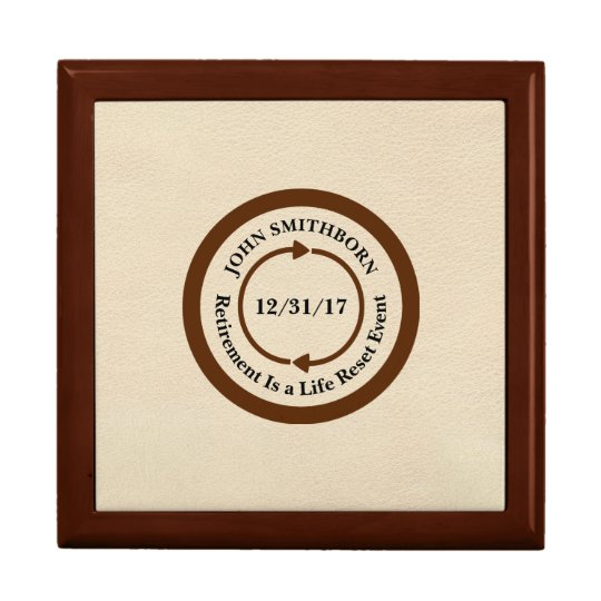 Commemorative Brown on Cream Retirement Large Square Gift