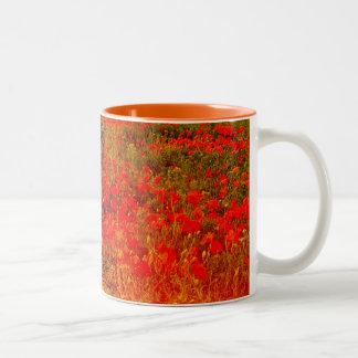 Commemorative poppies Two-Tone coffee mug