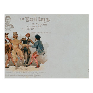 Commemorative Postcard of the opera 'La