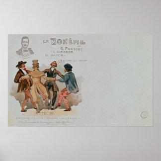 Commemorative Postcard of the opera 'La Poster