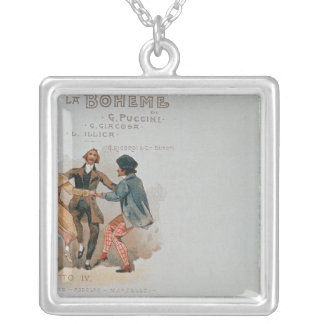 Commemorative Postcard of the opera 'La Silver Plated Necklace