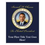Commemorative President Barack Obama Re-Election 11.5 Cm X 14 Cm Flyer