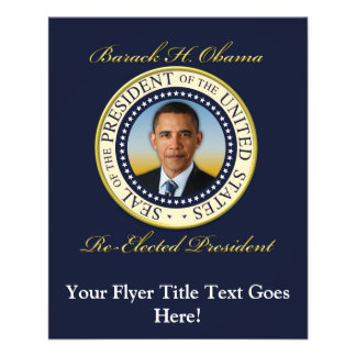 Commemorative President Barack Obama Re-Election 11.5 Cm X 14 Cm Flyer
