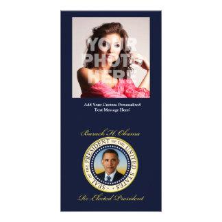 Commemorative President Barack Obama Re-Election Personalized Photo Card