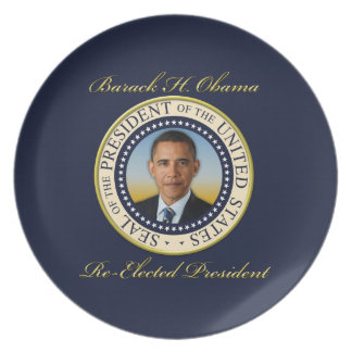 Commemorative President Barack Obama Re-Election Plate