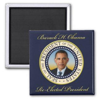 Commemorative President Barack Obama Re-Election Square Magnet