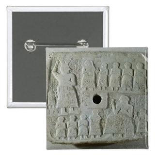 Commemorative relief 15 cm square badge