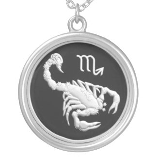 Commemorative Russian Coin, Scorpio Zodiac Round Pendant Necklace