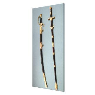 Commemorative sword given by Napoleon Bonaparte Canvas Print