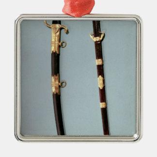 Commemorative sword given by Napoleon Bonaparte Silver-Colored Square Decoration