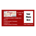 Commencement Announcement - Red Photo Cards