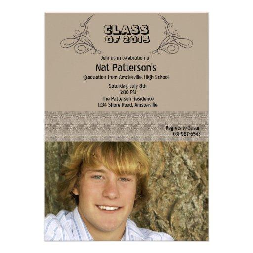 Commencement Photo Graduation  Invitation