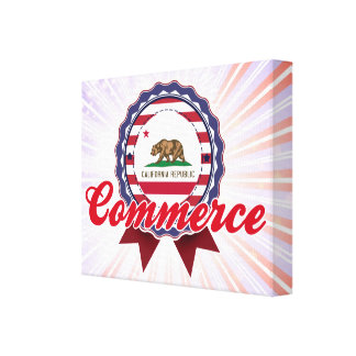 Commerce, CA Gallery Wrap Canvas