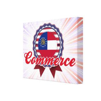 Commerce, GA Stretched Canvas Print