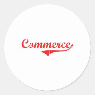 Commerce Georgia Classic Design Stickers