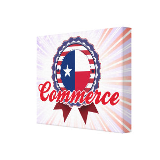 Commerce, TX Stretched Canvas Print