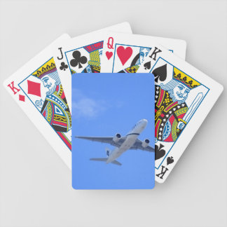 Commercial Airliner Bicycle Playing Cards