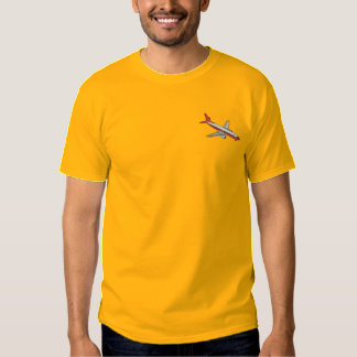 Commercial Airliner Embroidered T-Shirt