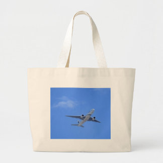 Commercial Airliner Large Tote Bag