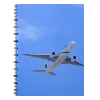 Commercial Airliner Spiral Note Book
