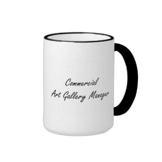 Commercial Art Gallery Manager Artistic Job Design Ringer Mug