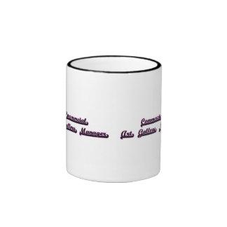 Commercial Art Gallery Manager Classic Job Design Ringer Mug