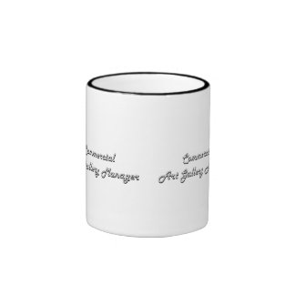 Commercial Art Gallery Manager Classic Job Design Ringer Coffee Mug