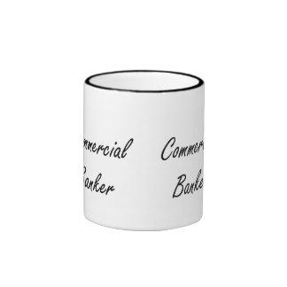Commercial Banker Artistic Job Design Ringer Mug